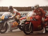 David At Scarborough with Roger Burnett both on Suzuki's