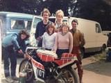 David, Mick Preston in the Leathers, engineer Mick Harding and the gang 1981 !