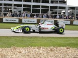 Martin Brundle In The Brawn mercedes BGP 001  F1 championship winning Car