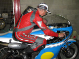 Phil Read Trying the Suzuki for size