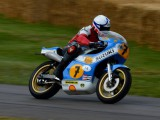 Goodwood festival of Speed Steve Griffith on the 1975 Grand Prix winning XR14 Rg500 Suzuki Ex Barry Sheene