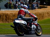 Goodwood Festival of Speed Steve Griffith riding The Suzuki XR23 680cc  EX Pat Hennen  Marco Luccinelli and Barry Sheene